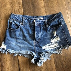 Jean shorts from Charlotte Russe, new, never worn!